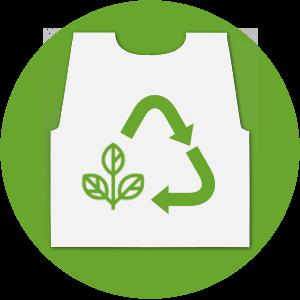 Der nachhaltige Plastikumhang - COMPOSTABLE
